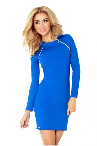 130-4 Dress with two zippers - Blue
