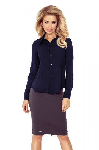 Navy BLUE blouse - buttons MM 016-5